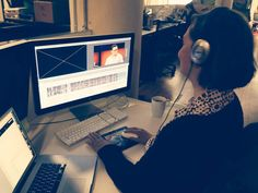 One of TED's video editors, Kari Mulholland, hard at work. Below, her editing advice. Photo: Biljana Labovic