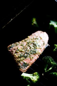 Lemon Dill Barbecued Salmon