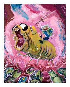 """Originals and prints from the """"Adventure Time: Art of..."""