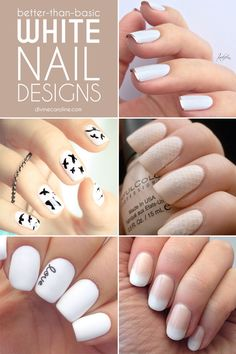 Be inspired by these trendy white nail designs that will modernize your nail game. #WhiteNails #NailDesigns