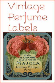jamaica byles: Vintage Perfume Labels