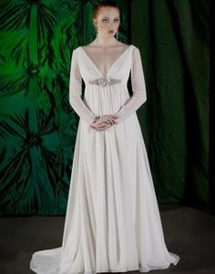 1000 images about grecian wedding dress on pinterest for Grecian wedding dress with sleeves