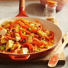 Enjoy this tasty and guilt free Orange-Ginger Chicken Stir-Fry! More healthy chicken stir-fry: