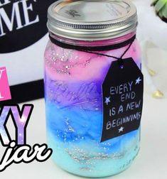 DIY Galaxy in a jar // Mini galaxis befőttes üvegben // Mindy - craft tutorial collection // #crafts #DIY #craftTutorial #tutorial #KidsRoomDecor #DIYKidsRoomDecor