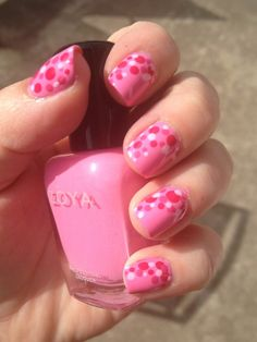 Polka Dot Mani featuring Zoya Nail Polish in Shelby and Zoya Lara shared by @amberback #ZoyaPinterest