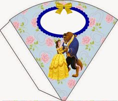 Beauty and the Beast Cone Treat Holder