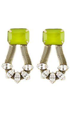 Loren Hope Clara Earrings in Chartreuse at Social Dress Shop