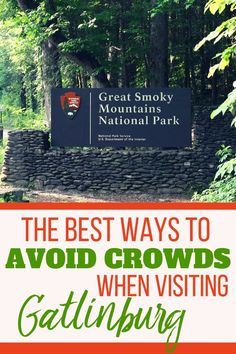 Find the best ways to avoid crowds on your Gatlinburg vacation with these easy tips. The Great Smoky Mountains offer lots of fun but it can get very busy too. Enjoy GSMNP with your kids without lots of crowds. Gatlinburg Tennessee things to do Smoky Mountains Hiking, Smoky Mountains Tennessee, Great Smoky Mountains, Appalachian Mountains, Tennessee Hiking, Gatlinburg Tennessee, Tennessee Vacation Kids, Tennessee Cabins, Pigeon Forge Tennessee