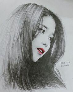 Kpop Drawings, Pencil Art Drawings, Realistic Drawings, Art Sketches, Charcoal Portraits, Fan Art, Korean Art, Kpop Fanart, Pencil Portrait
