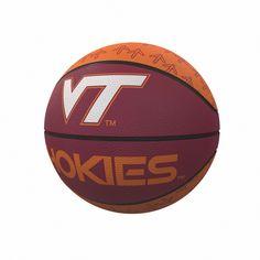 b670786d NCAA Virginia Tech Hokies Repeating Logo Mini-Size Rubber Basketball