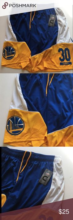 NBA Golden State Warriors Stephen Curry Shorts XL NBA Golden State Warriors Stephen Curry #30 Men's Basketball Shorts Size XL NWT  New with tags, never worn.  2 front pockets and pull-string NBA Shorts Athletic
