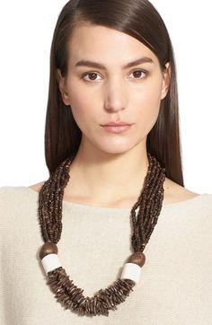 eskandar Coconut Bead Necklace