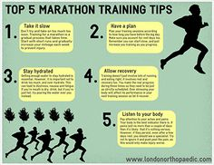 Are you planning on running a marathon? Here are some tips for you to follow. Anorexia, Marathon Running, Running Tips, Health Facts, Listening To You, Physical Therapy, How To Run Longer, Long Distance, New Jersey