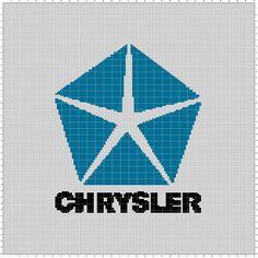 Chrysler (150x200) Minecraft Pixel Art, Mother And Baby, Casket, Loga, Cross Stitch Patterns, Crossstitch, Knitting, Creative, Transportation