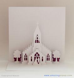 Little Church Wedding Popup Card   www.amazingpopup.com/ It…   Flickr - Photo…