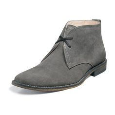 Gray suede, minimal, plain-toe boot