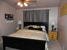 Gray and Yellow Decorating | Bedroom Designs Ideas With Lovely Gray And Yellow Bedroom Decorating ...