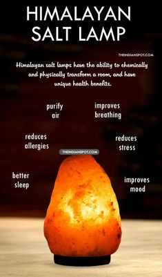 Salt lamps are simply large pieces of pure Himalayan Salt with a small bulb inside. They can be solid pieces of salt or decorative baskets filled with large crystals of salt. Himalayan salt lamps have Health Remedies, Home Remedies, Natural Remedies, Massage Room, Massage Therapy, Himalayan Salt Lamp, Cool House Designs, Natural Crystals, Health Benefits