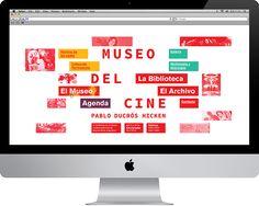 TP4Marca / Sistemas de Mediana ComplejidadDiseño de identidad para Museo del Cine, Pablo Ducrós Hicken.Marca, arquigrafía, evento temporario, señalética y desplegable.-Graphic Design IIProject done for college