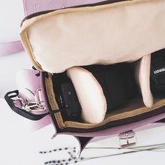 LILAC CAMERA BAG Leather Camera Bag