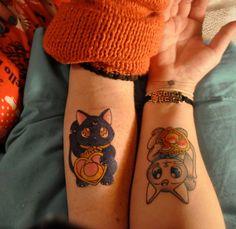 Luna and Artemis tattoo