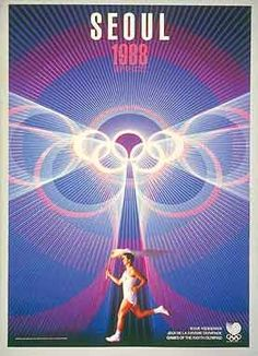 Poster promoting the Olympic Games - Seoul 1988