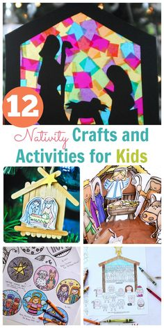 Nativity Crafts and Activities for Kids - Happy Home Fairy - Advent - It's Christmas time and I always love finding ideas that help you point your family's hearts t - Christian Christmas Crafts, Christian Crafts, Christmas Jesus, Christian Preschool, Christian Kids, Christmas Crafts For Toddlers, Kids Christmas, Christmas Parties, Christmas Nativity