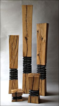 Wood Sculpture Inspiration- add spikes (skewers/toothpicks) around the edge.or in the middle as the anomaly.using natural wood for the rest Into The Woods, Abstract Sculpture, Wood Sculpture, Metal Sculptures, Bronze Sculpture, Creation Deco, Wooden Art, Art Object, Wood And Metal
