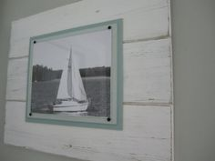 Large Distressed White Plank Frame for 8x10 Photo by TheBoathouse1, $65.00