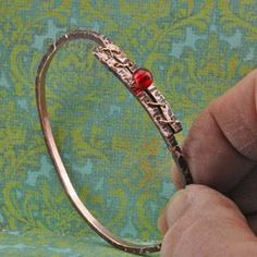 Hand hammered copper bracelet Tutorial