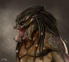 Predator Cosplay, Predator Alien, Wolf Predator, Alien Concept Art, Nerd, Alien Races, Alien Art, Xenomorph, Sci Fi Fantasy