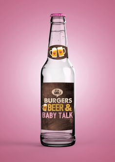 DIGITAL Beer Labels for Baby Showers Weddings & by LyonsPrints