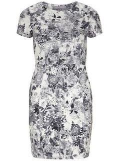 DP petite floral shift dress