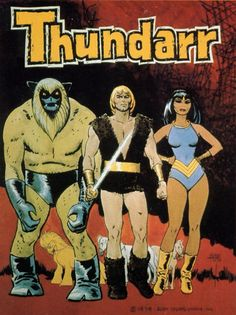 Alex Toth - Thundarr the Barbarian Comics Und Cartoons, Old School Cartoons, Retro Cartoons, Classic Cartoons, 80s Cartoon Shows, Cartoon Tv, Girl Cartoon, Cartoon Characters, Fictional Characters