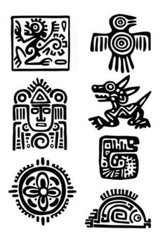 Items similar to Maya Aztec Set – Temporary tattoos (Choose your fav) on Etsy - tattoo tatuagem Inka Tattoo, Temporary Tattoos, Small Tattoos, Aztec Symbols, Viking Symbols, Egyptian Symbols, Viking Runes, Ancient Symbols, Motifs Aztèques