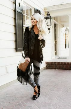 CARA LOREN: Why Not Sweats Everyday + Leather