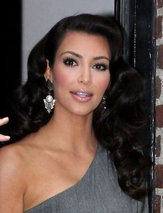 Kim Kardashian's beautiful wavy hair