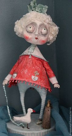 paper clay handmade doll