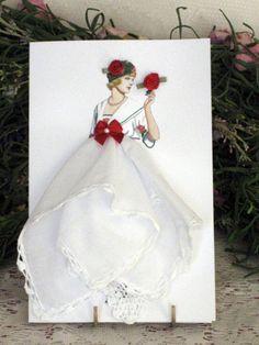 1912 Lanvin At-Home Dress Keepsake Hanky Card