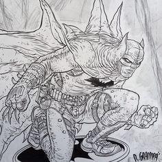Batman para o poster da Comic Con Experience. Mais tarde posto o poster inteiro, que fiz com o Ivan Reis.