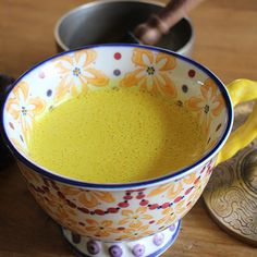 Golden Milk  This beautiful golden-colored warm drink is both soothing and creamy. Turmeric has countless health benefits including being anti-inflammatory, antimicrobial, liver detoxifying, good for brain function, lowering triglycerides, promoting digestive health, regulating metabolism, boosting the immune system and also has potent anti-cancer properties.