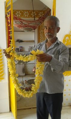 a garland made of 'champak'