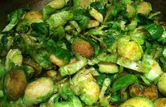 Caramelized Maple Brussels Sprouts and Mushrooms