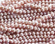 Perlas 5-6 mm, Perlas color rosa pálido, Perlas redondeados, Perlas naturales, Perlas de agua dulce, Perlas cultivadas, Perlas para pulseras