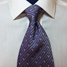Murano Shade of Purple Neck Tie Lavender 100% Silk Satin Finish Made In USA #Murano #NeckTie