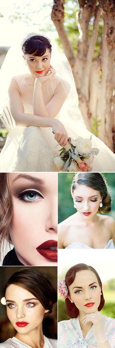 Peinados y maquillajes para novias vintage pettinatura e trucco sposa per matrimonio vintage