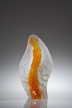 Habatat Galleries SOFA 2014 Artist: Michael Behrens.  Seaforms 2014-108, 2014  Kiln-cast glass