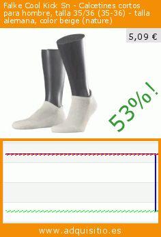 Falke Cool Kick Sn - Calcetines cortos para hombre, talla 35/36 (35-36) - talla alemana, color beige (nature) (Ropa). Baja 52.87037037037%! Precio actual 5,09 €, el precio anterior fue de 10,80 €. https://www.adquisitio.es/falke/cool-kick-sn-calcetines-5