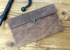 Sale!!! Leather pouch,  Leather clutch bag, Distressed brown leather pouch, Document pouch by plgdesigns. Explore more products on http://plgdesigns.etsy.com