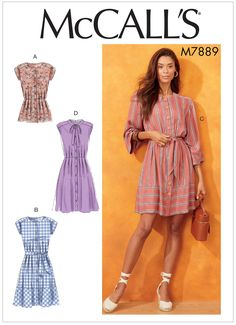 McCall's Patterns Early Spring 2019 – Doctor T Designs Sewing Clothes, Diy Clothes, Clothes Patterns, Maternity Patterns, Mccalls Sewing Patterns, Sewing Paterns, Creation Couture, Loose Fitting Tops, Pattern Fashion